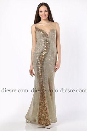 84710d2db964a Payet Detaylı Abiye Elbise | Odrella | Payet, Elbise modelleri ...
