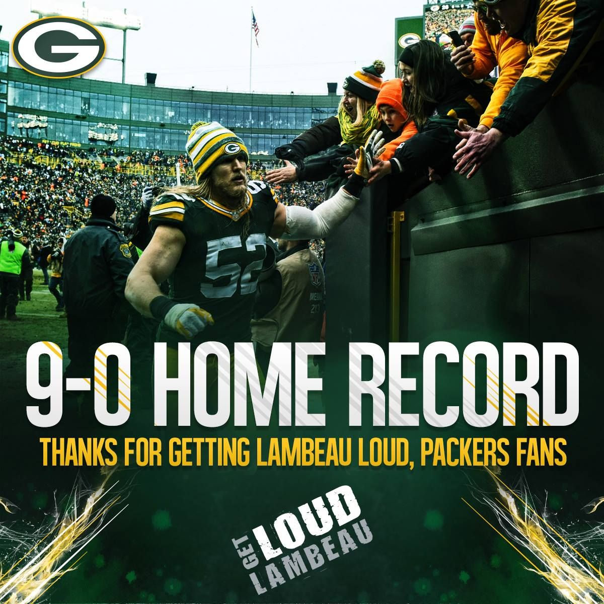 9 0 Home Record Now Let S Go Catch Some Birds Green Bay Packers Football Green Bay Packers Fans Green Bay Packers