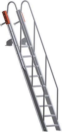Swing Up Deck Access Ship Ladder