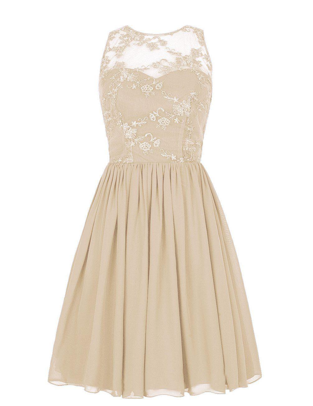 Robot Check Tan Bridesmaid Dresses Chiffon Cocktail Dress Pretty Dresses [ 1300 x 1005 Pixel ]