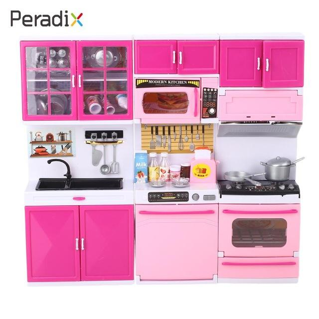 Plastic Kitchen Toys Set Mini Cooking Playset Diy Kitchen