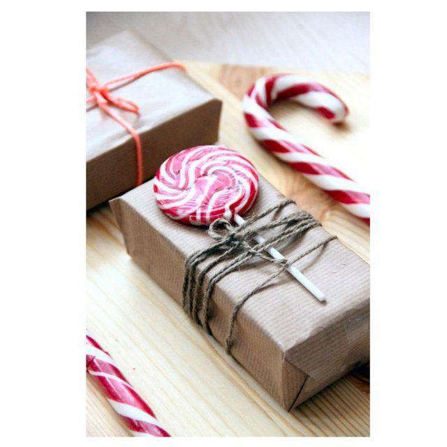 Paquet Cadeau Original Maison #6: Emballage Cadeau Original Avec (une) Douceur
