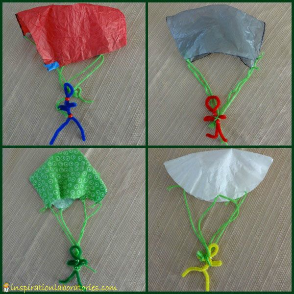 How to Make a Parachute - try all different materials!