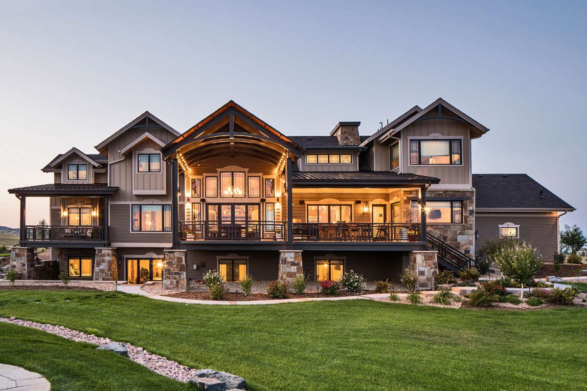 Plan 26600gg High End Drama With Bonus Mountain Dream Homes Lake House Plans Mountain House Plans