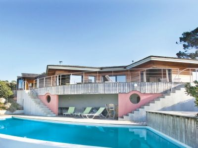 La Belle Vue (ref. FKO129) is magnificent property near to the village of Acqua Doria in the south of the Gulf of Ajaccio, and is built on a very large private plot in the Corsican countryside with breathtaking views of the Gulf. Sleeps 8.