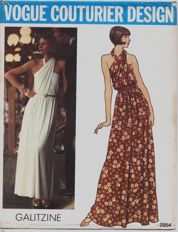 Rare 70s Vogue Couturier Design Pattern 2954 Irene by CloesCloset ...