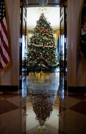 Michelle Obama unveils White House 2012 holiday decorations christmas tree house Michelle Obama unveils White House 2012 holiday decorations christmas tree house