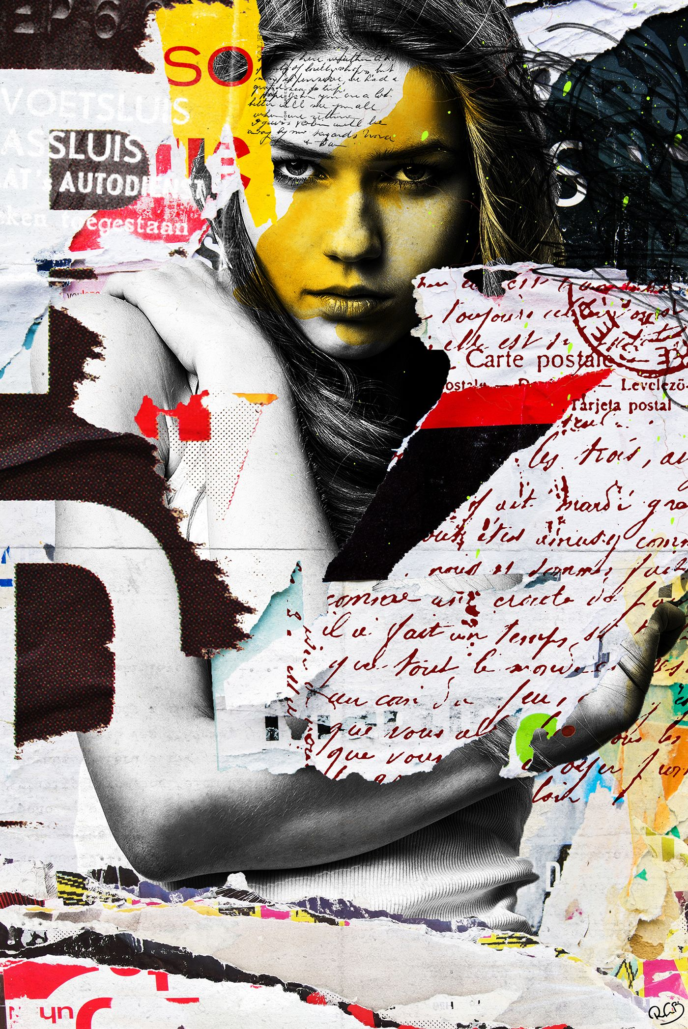 I Fought The Law On Behance Art Digital Collage Collage Art