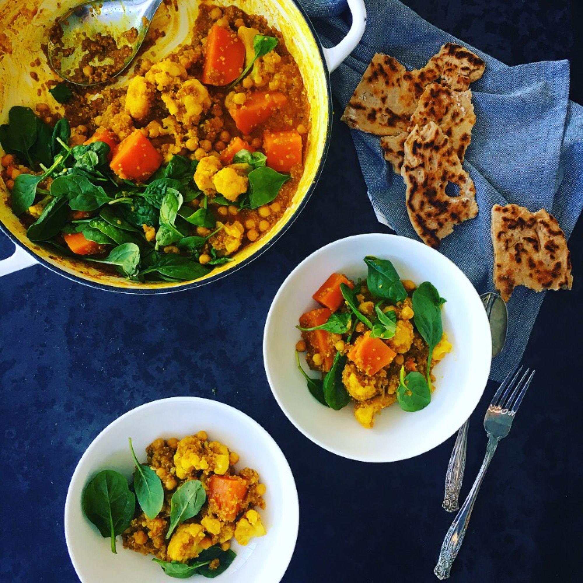 Sweet Potato Amp Cauliflower Turmeric Quinoa Curry