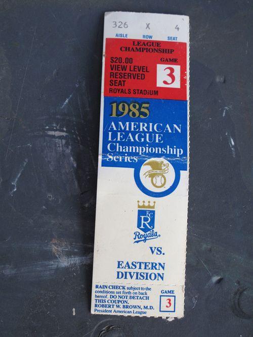 1985 American League Championship Series - Game 3 ticket stub