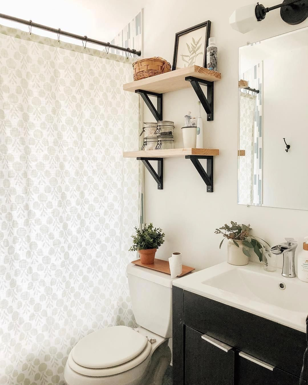 Happy First Day Of The Oneroomchallenge I Am Planning If All Goes Well And My Husband Is Agreeable Small Bathroom Decor Bathroom Decor Modern Boho Bathroom