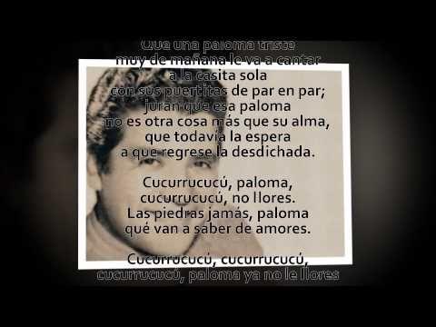 Cucurrucucú Paloma Miguel Aceves Mejía Letra Letras Paloma Youtube
