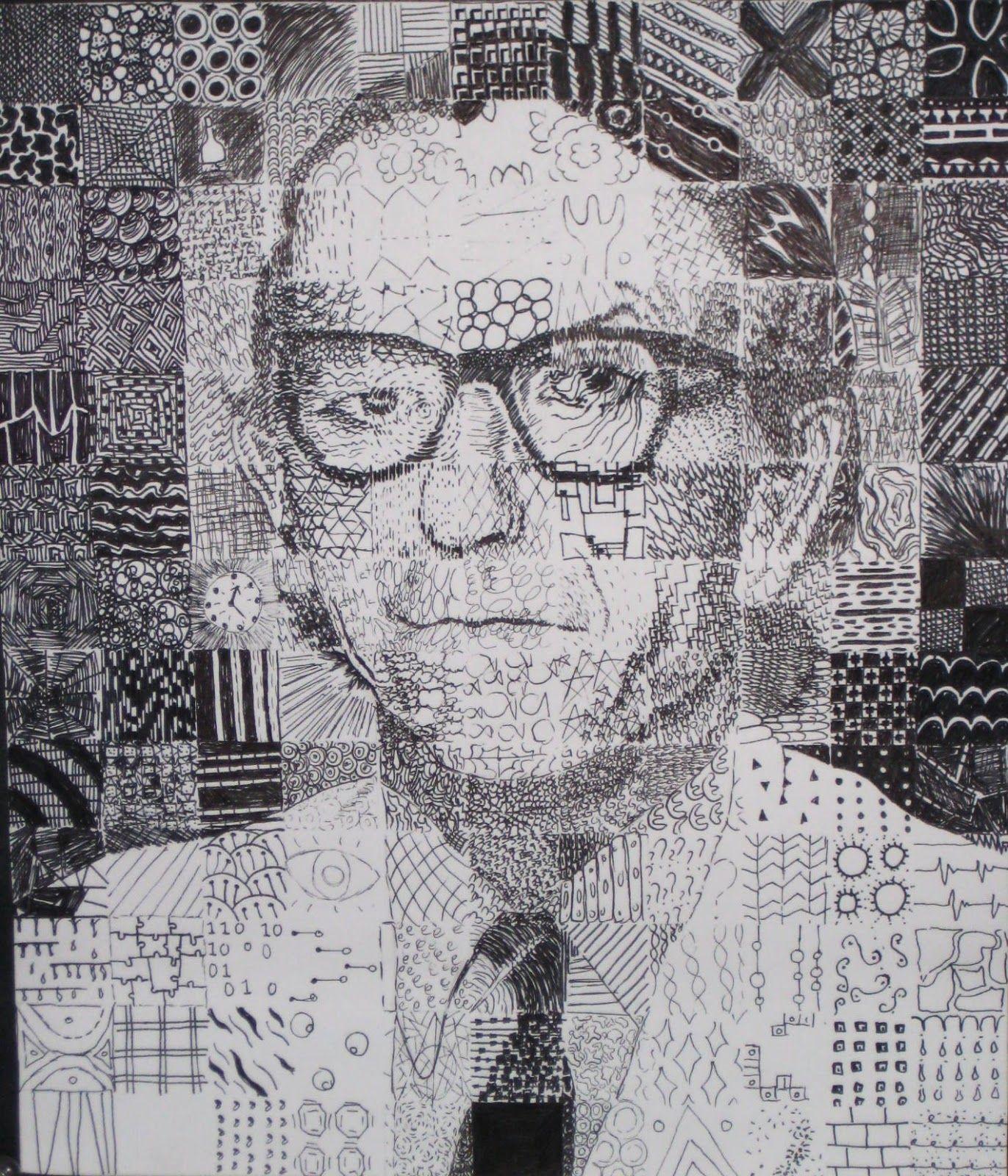 Mosaic Grid Zendoodle Drawings