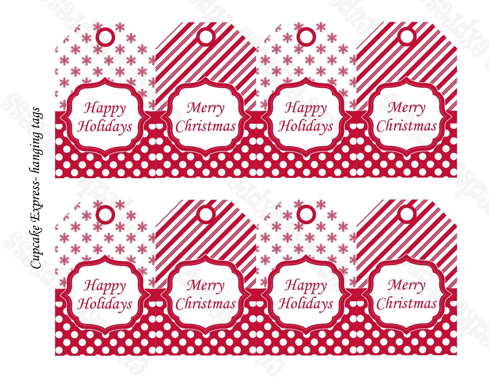 Cupcake Express: freebies FREE printable Christmas gift tags ...