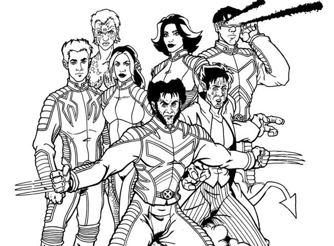A compact X men Coloring Pages Kid stuff Pinterest Compact