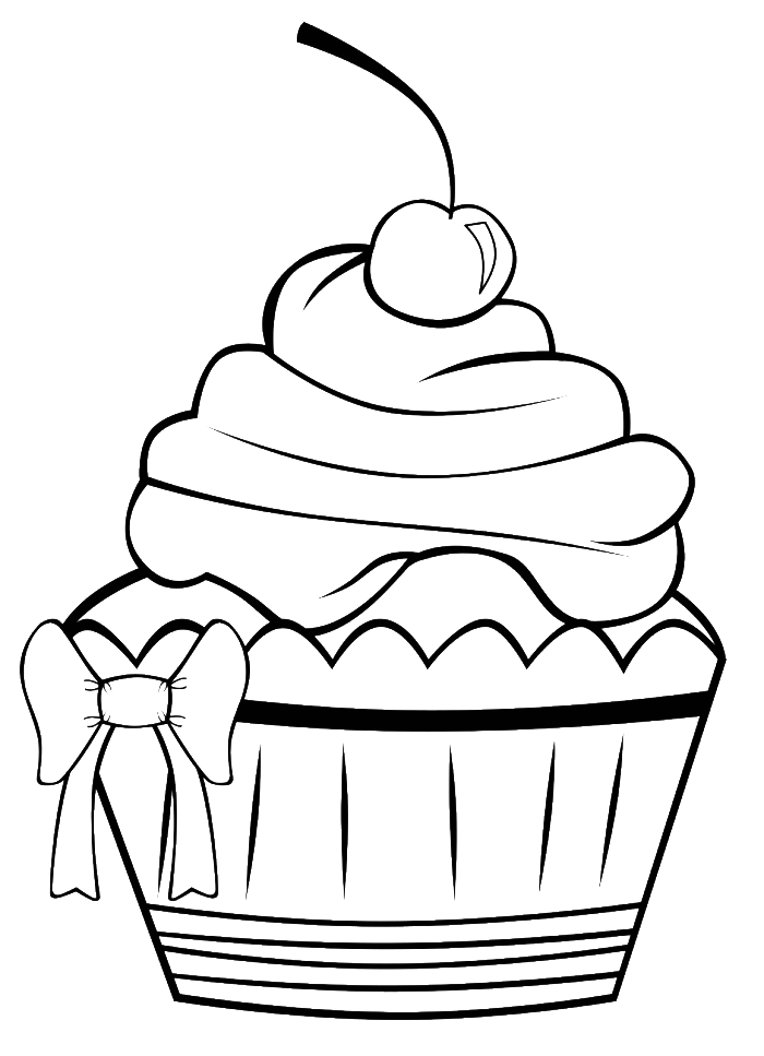 Etonnant A Very Pretty Cupcake Coloring Pages   Cookie Coloring Pages : KidsDrawing  U2013 Free Coloring Pages