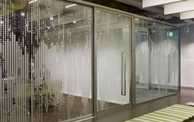 office glass frosting. etchedglassofficepartition380x240 office glass frosting
