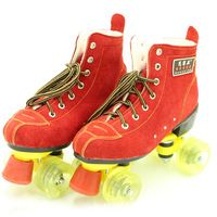 New Women's Roller Skate Quad Skates Boots Outdoor Indoor Double Line 4 Wheels Red Skating Patins Shoes Fitness Sneakers