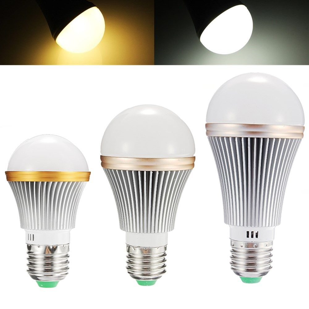 Dimmable E27 5W 7W 9W High Brightness LED COB Globe Light Bulb for ...
