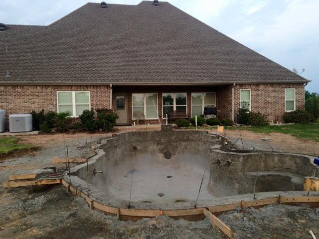 Hobert Pool under construction in Mt. Pleasant.