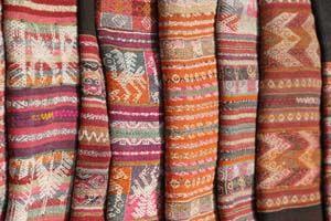Aguayo antiguo tejido en telares tradicionales  eb92aacbbb3