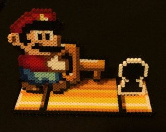 Super Mario Overworld Perler Monster Parade by SoultwinSprites