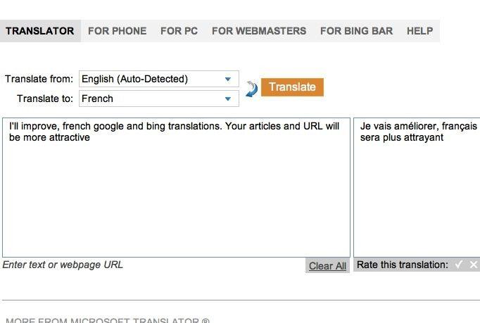 xavierfr: improve your french google bing auto translator for $5, on fiverr.com