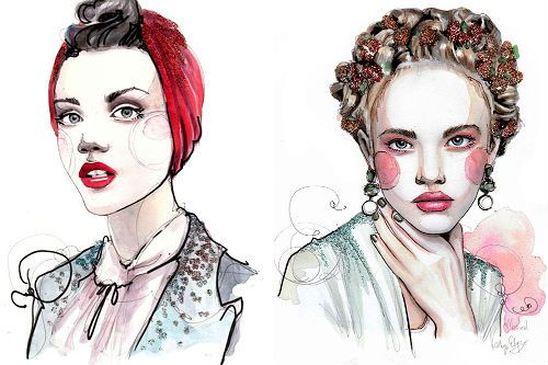 mode illustratoren to know: part II paper fashion collageI