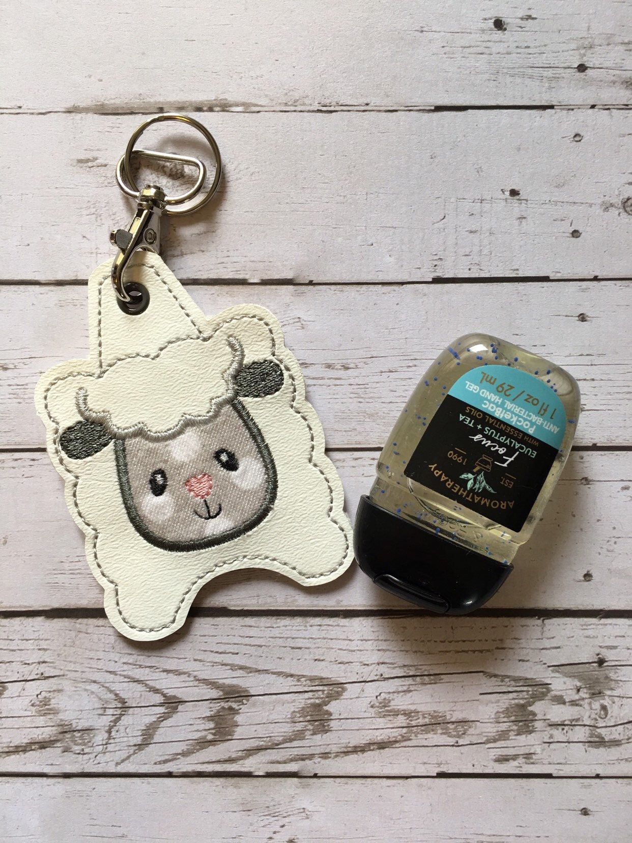 Sheep Hand Sanitizer Holder Keychain Hand Sanitizer Key Fob 1