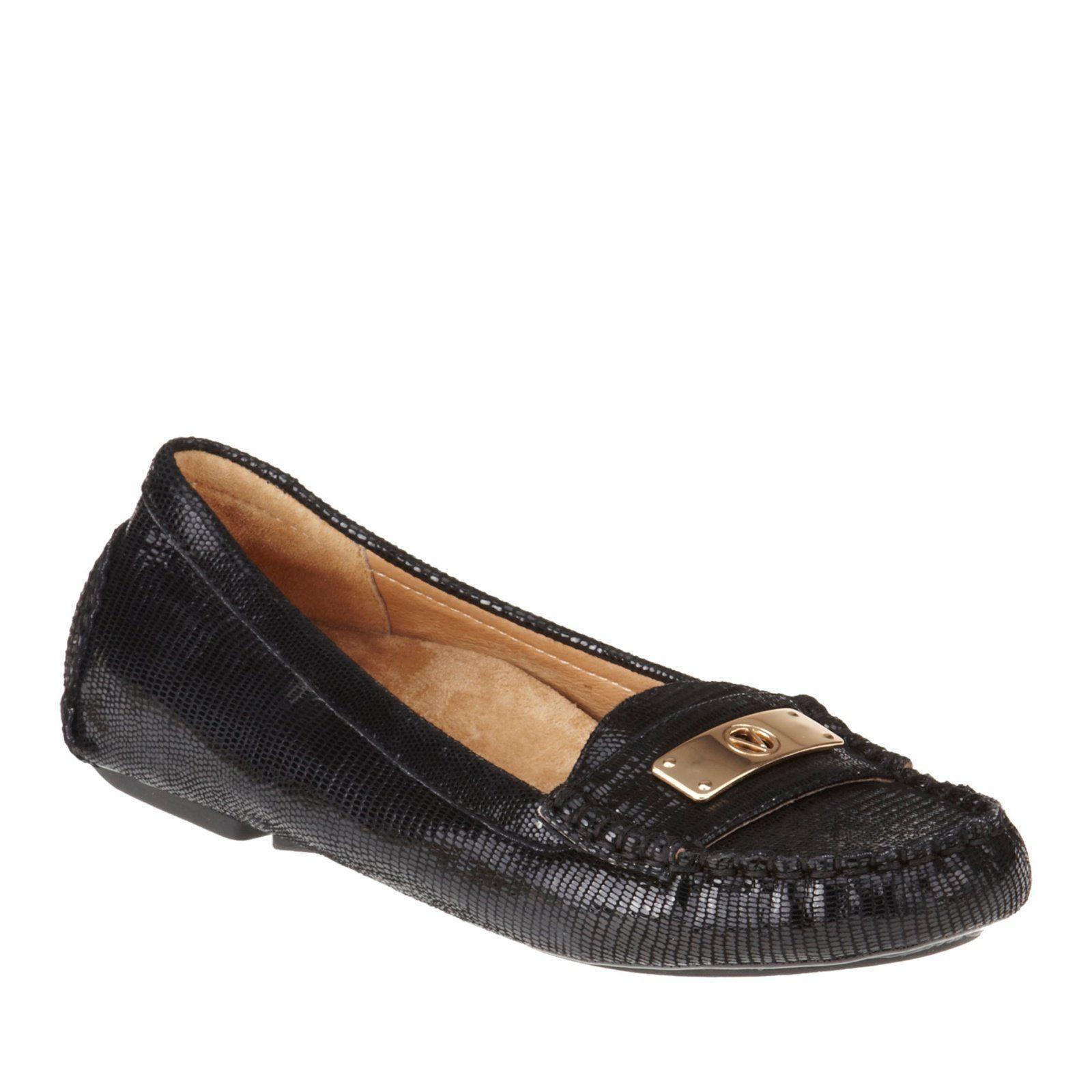 576f61f5992 Vionic Sydney Womens Leather Loafers Black Lizard - 5