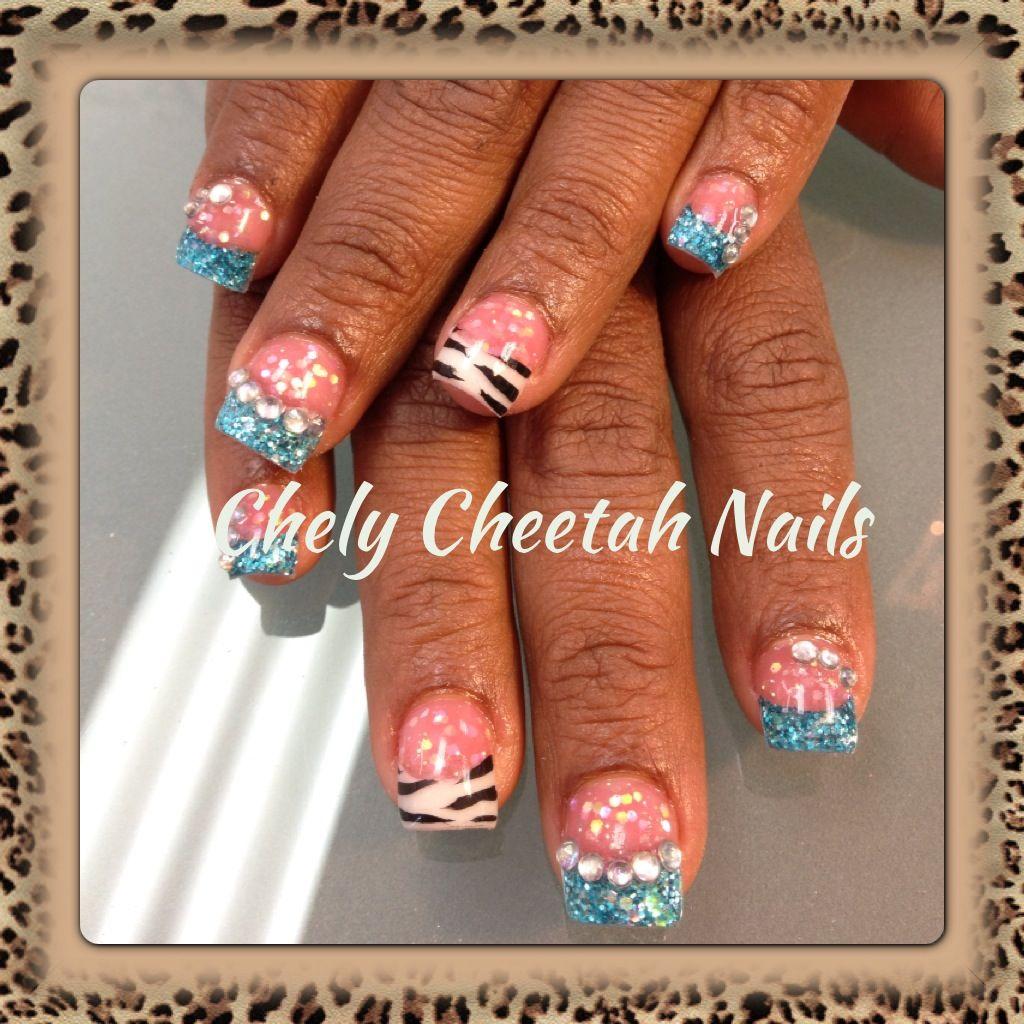 New Rockstar Acrylic Nail Designs: Chely Cheetah Nails. Acrylic Nails. Rockstar Nails. Zebra