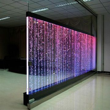 Waterfall Style Led Wall Screen On Global Sources Large Wall Lighting Bubble Lights Waterfall Wall