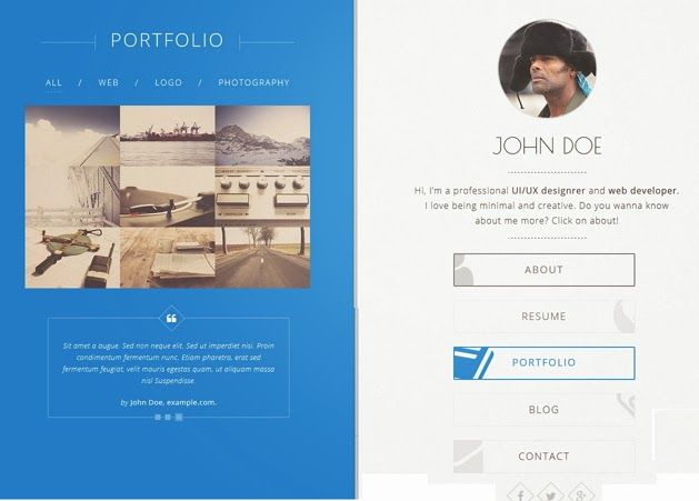 Creative Responsive #Resume Template #vcard #design Free - bootstrap resume template