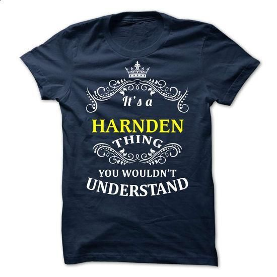 HARNDEN it is - #thank you gift #grandma gift. CHECK PRICE => https://www.sunfrog.com/Valentines/-HARNDEN-it-is.html?id=60505