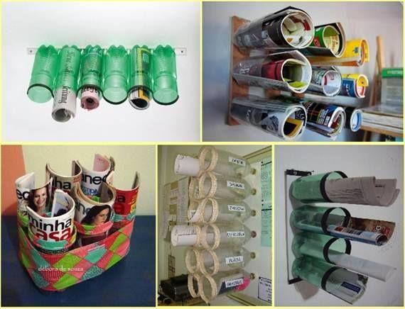 Recicla botellas de plástico