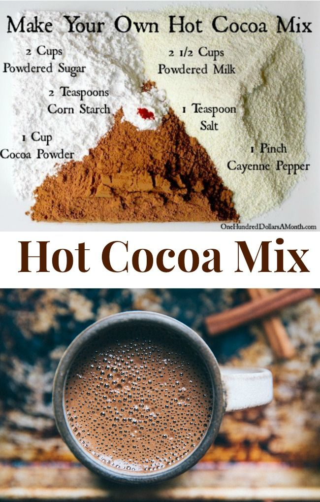 Recipe How to Make Your Own Hot Cocoa Mix Hot cocoa