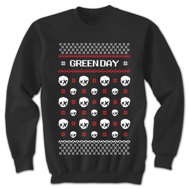 Green Day Christmas Sweater.Check Out Green Day Ugly X Mas Sweatshirt On Merchbar