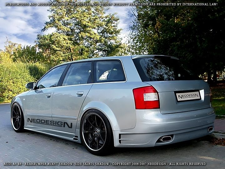 audi a4 b6 01 04 avant achterbumper shadow kb3 tuning. Black Bedroom Furniture Sets. Home Design Ideas