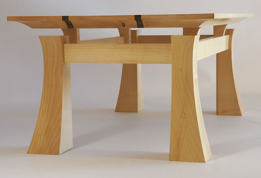 Curved Strong Table Legs Woodworking Furniture Coffee Table