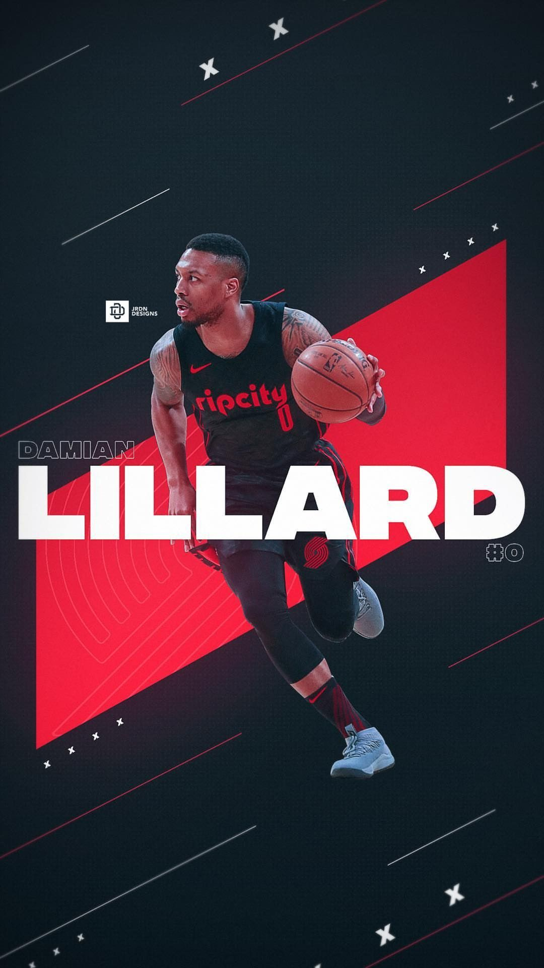 Damian Lillard wallpaper Nba wallpapers, Nba sports