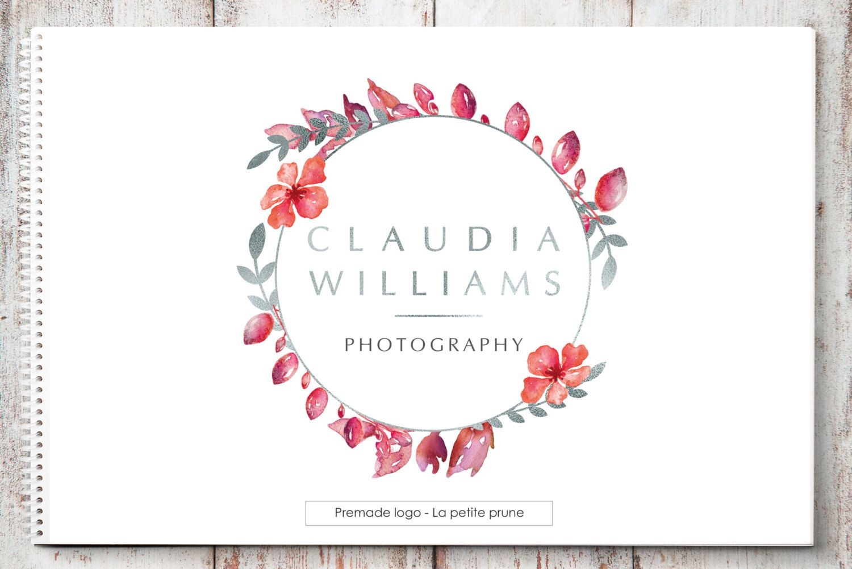 Favoritos Photography Watermark, floral logo calligraphy, Logo pre-designed  CP45