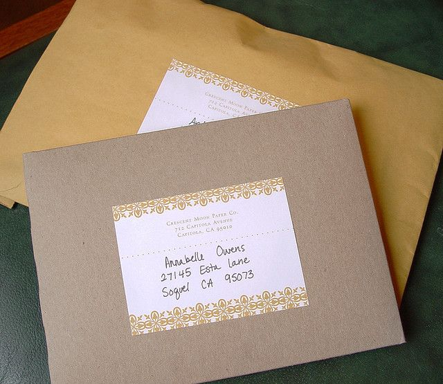 packages Paper design - mailing label designs
