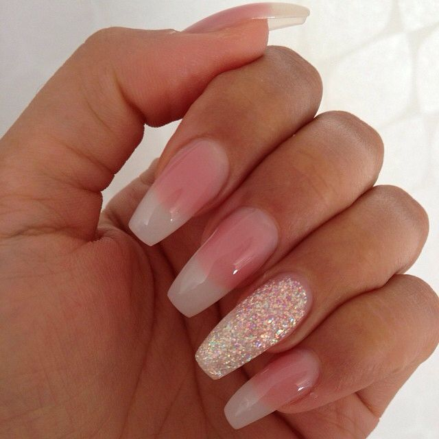Natural coffin nail design | N A I L S | Pinterest | Coffin nails ...