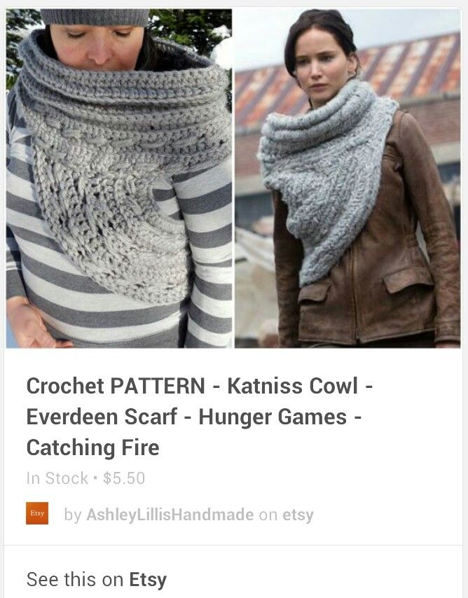 Another version of Katniss Cowl (With images)   Scarf ...