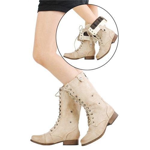 foldable combat boots