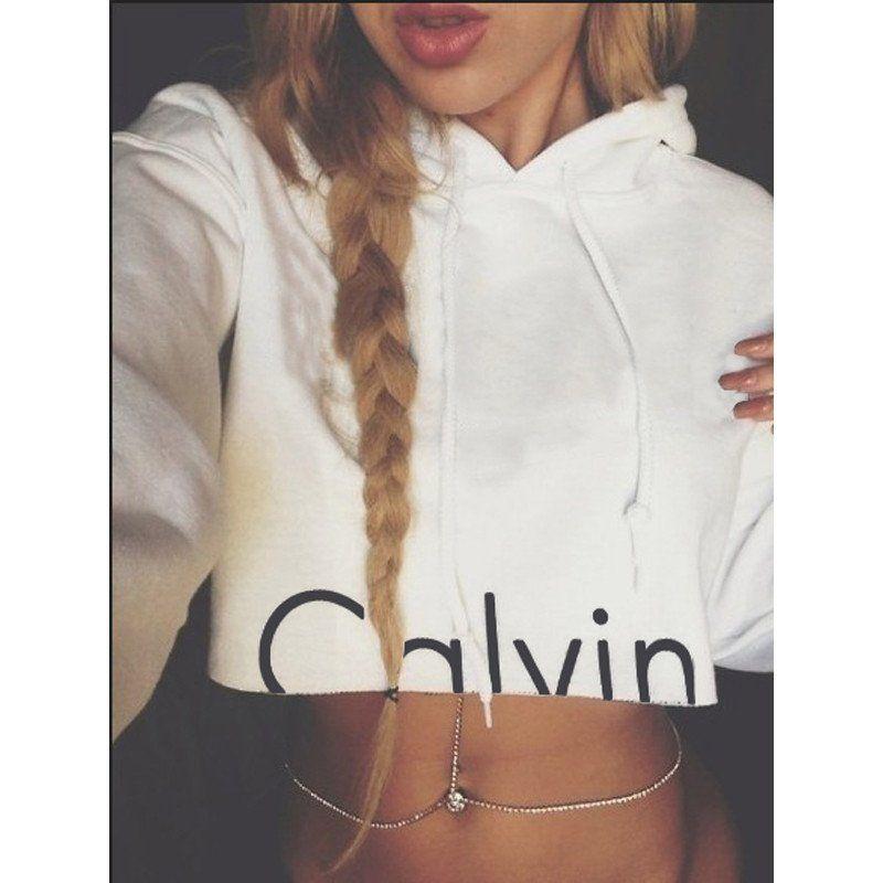 Calvin Klein Crop Top Hoodie | | Want list | | Pinterest | Calvin klein crop top Crop top ...