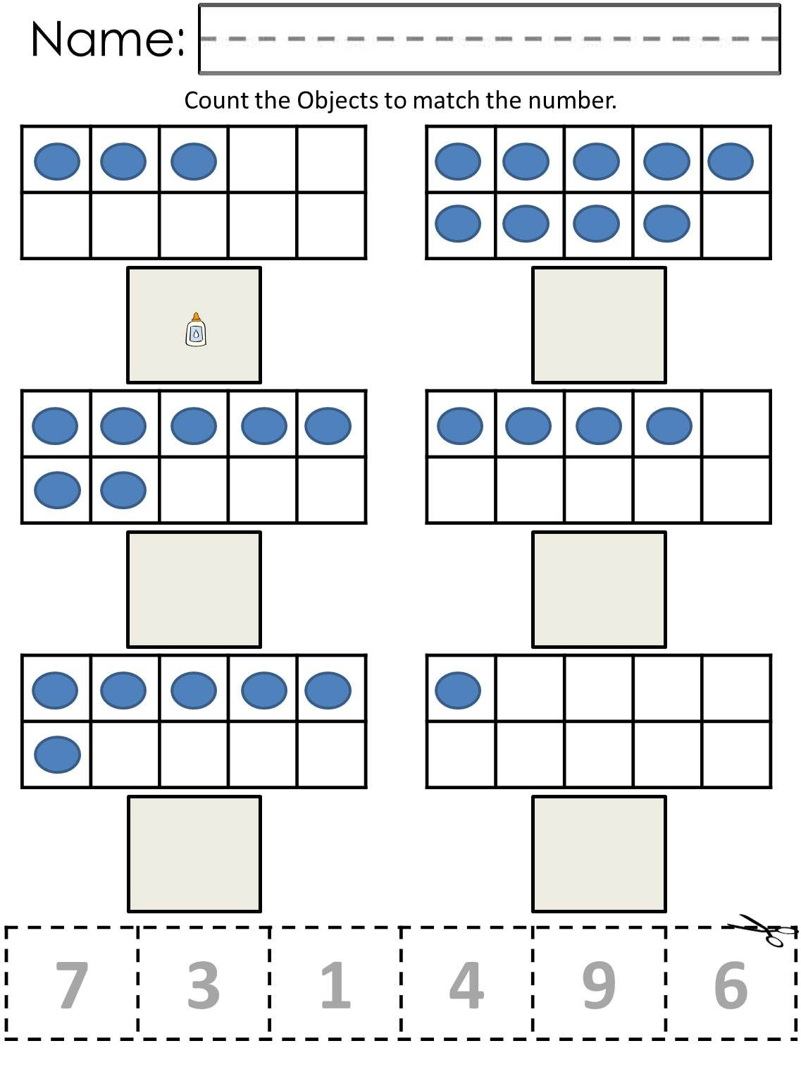 Ten Frame Counting Worksheets Now Available At