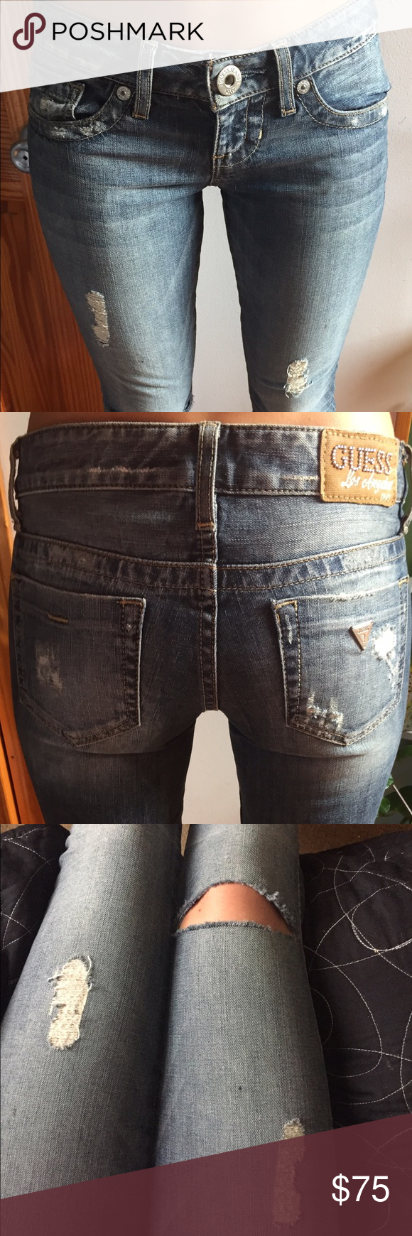 Crop guess jeans crop stretch guess jeans worn only once Guess Pants Ankle & Cropped