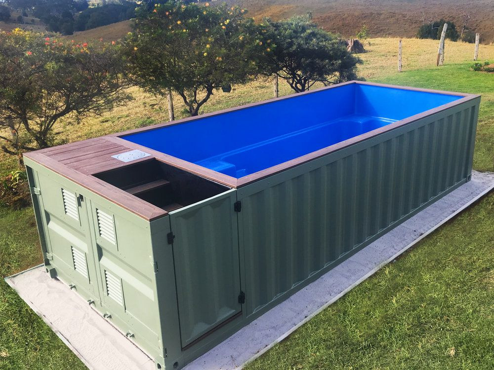 shipping container pools container nutzung pinterest container container h user und haus. Black Bedroom Furniture Sets. Home Design Ideas