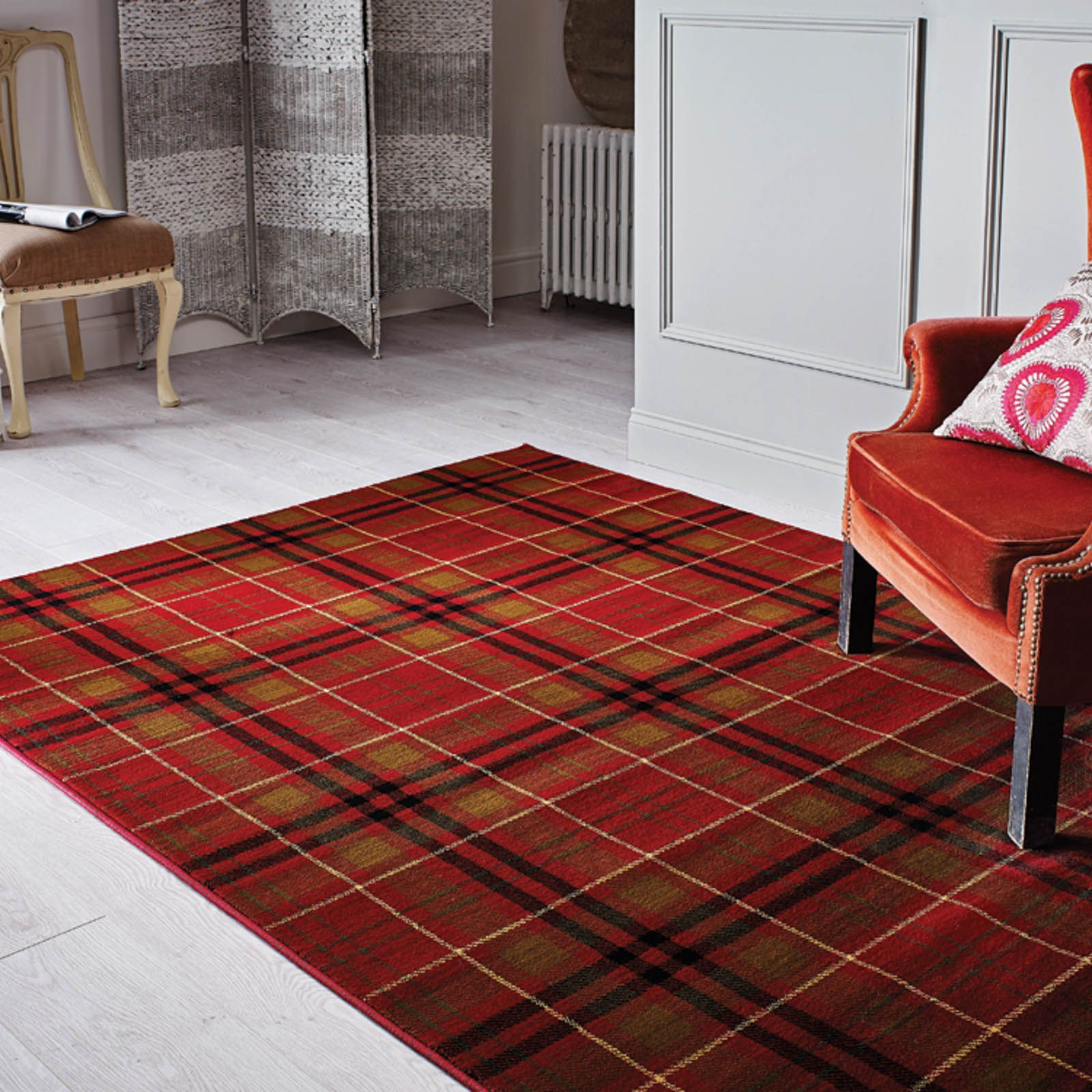 Plaid Rug: Love, Love, Love ️Traditional Tartan Glen Kilry Rugs In